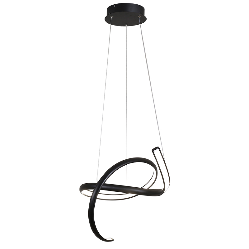 Dimmable Creative Modern led Chandelier For Dining Room Living Room Bar Shop Hanging White or Black Chandelier Fixtures Witeh RC