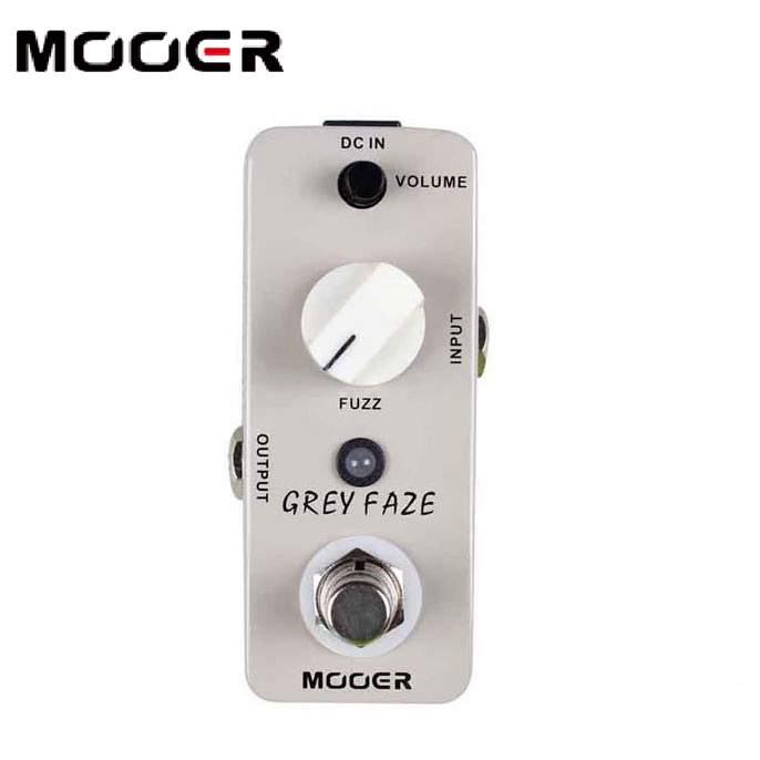 MOOER Grey Faze Fuzz Pedal A smooth, vintage fuzz sound effect pedals free shipping mooer grey faze vintage fuzz guitar pedal fuzz distortion guitar effect pedal full metal shell true bypass free shipping