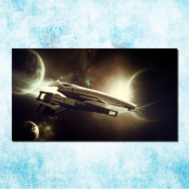 Mass Effect 2 3 4 Hot Shooting Action Game Art Silk Canvas Poster 13x24 24x43 inch Pictures For Living Room Decor (more)-3(China)