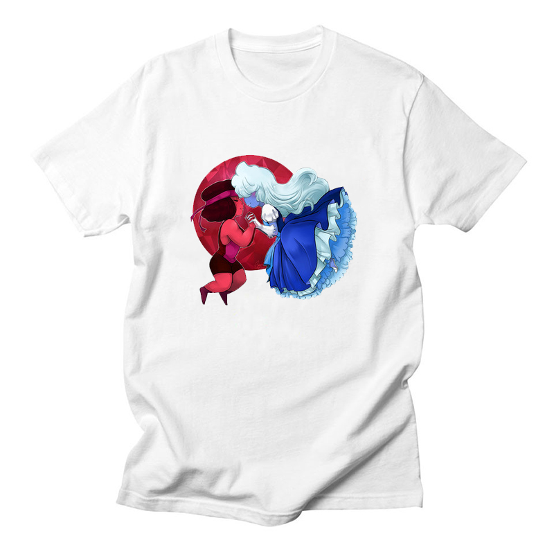 58f8f9b8b0a52 US $7.37 42% OFF|Steven Universe T Shirt Men Women Garnet LGBT Lesbian T  shirt Anime Sugar Life Adventure Crystal Gems Summer Top Tee-in T-Shirts  from ...