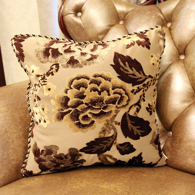 High End Quality Yarn Dyed Cushion Cover Noble Jacquard Sofa