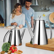European Style Leak-proof Stainless Steel Olive Oil Bottle Dispenser With Drip-Free Spout Storage Bottles For Kitchen Tool