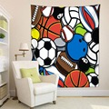 HommomH Tapisserie Kunst Dekor Wand Hängen in Wohnheim Wohnzimmer Schlafzimmer Fußball Basketball Baseball Bunte-in Wandteppich aus Heim und Garten bei
