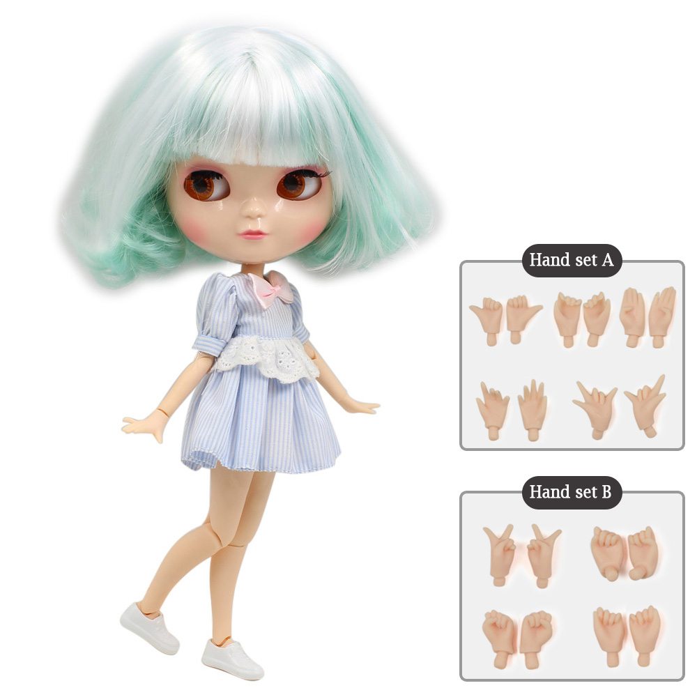 NO.130BL136/4006 ICY joint doll articulation body including hand set AB toy gift like the Neo blyth doll 1/6 30cm high