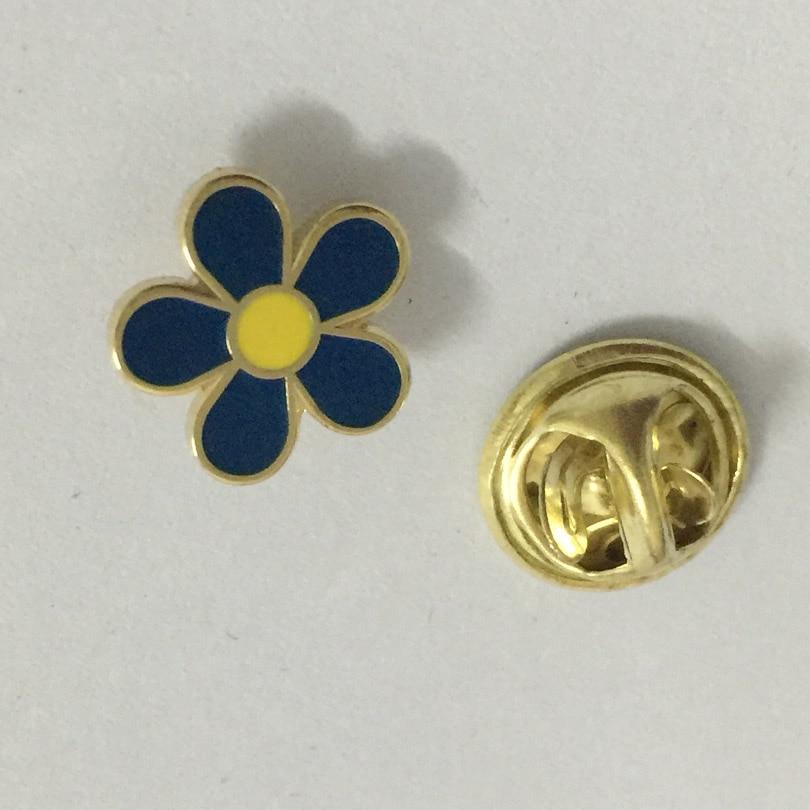 Freimaurerei 10mm blau blume revers pin mason sehr nette brosche pins abzeichen 100 stücke großhandel factory custom-in Broschen aus Schmuck und Accessoires bei  Gruppe 2