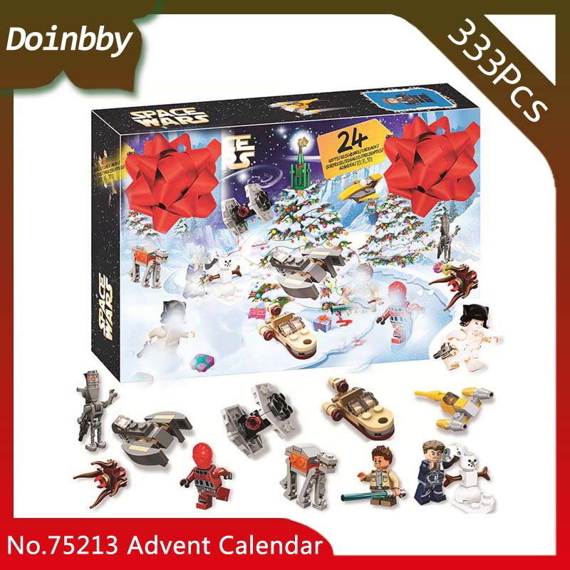 Christmas 333pcs DIY Star Wars Advent Calendar Peace Day Model Compatible with Legoings 75213 Set Building Blocks Kids Toys Gift