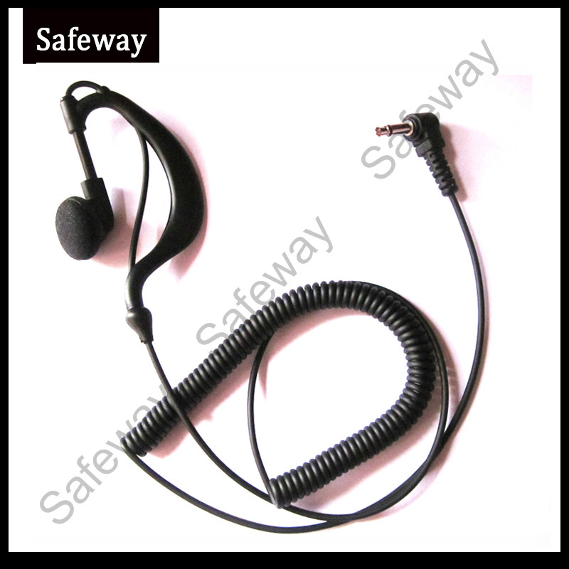 3.5mm Plug G Type Listen Only Earpiece Receive Only Earphone For Baofeng Walkie Talkie Two Way Radio Speaker Microphone
