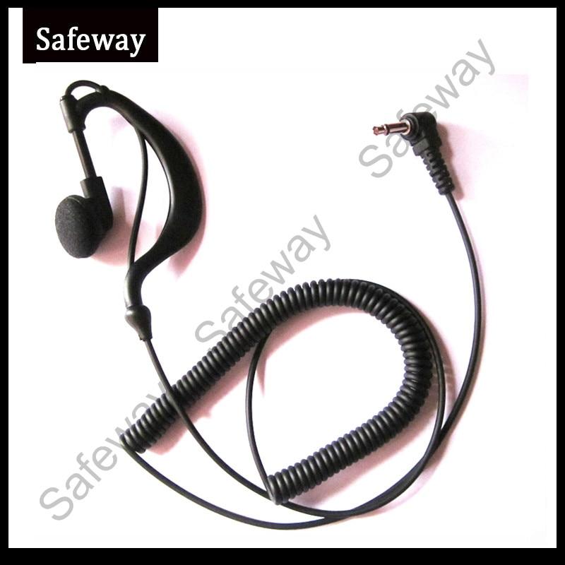3.5mm Plug G Type Listen Only Earpiece Receive Only Earphone For Baofeng Walkie Talkie Two Way Radio Speaker Microphone