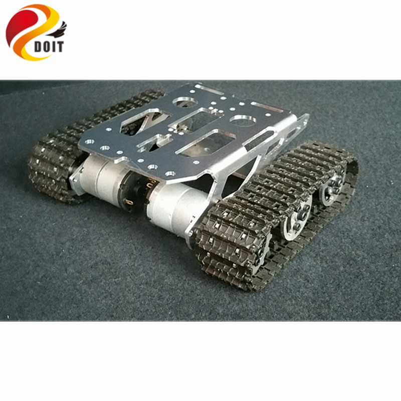 Official DOIT RC Tank Chassis Caterpillar Tractor Crawler Metal Wheel Robot Car Obstacle Avoidance Barrowland DIY RC Toy UNO R3 2 wheel drive robot chassis kit 1 deck
