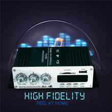 New Arrival Super Bass USB Mini Stereo Audio Car Power Amplifier USB DVD CD with FM MP3 Remote Controller