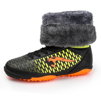 Brand Soccer Boots Warm Fur Sports for Man High Top Indoor Football Boot Size 35 46 Sneakers Teenager Thermal Football Sneakers