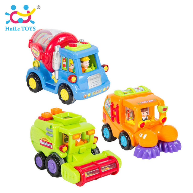 (Set of 3) Wholesale Baby Toys Push and Go Friction Powered Car Toy Trucks Children Pretend Play Toys Great Gift Huile Toys 386
