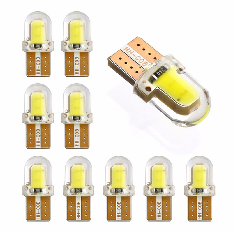 1pcs T10 LED W5W 194 168 W5W COB 8SMD Led Parking Bulb Auto Wedge Clearance Lamp CANBUS Silica Bright White License Light Bulbs high quality 5pcs canbus t10 cob interior lampada 194 168 w5w
