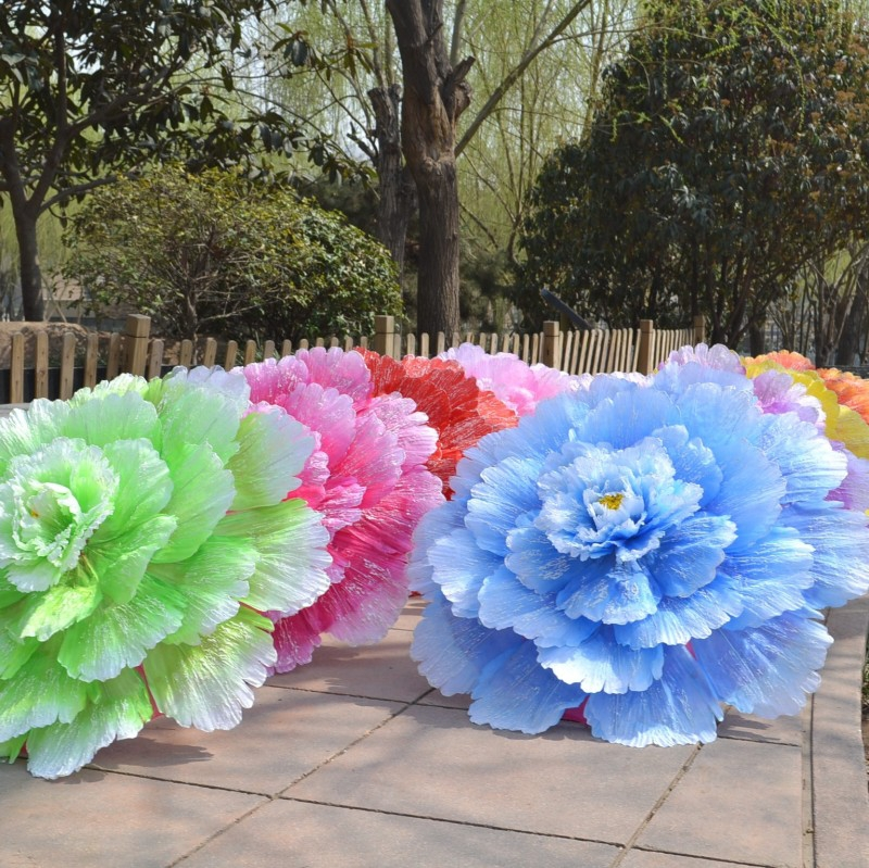 Chinese peony flower umbrella dance decoration silk umbrellawedding chinese peony flower umbrella dance decoration silk umbrellawedding decoration itemsfree shipping in rain gear from home garden on aliexpress junglespirit Image collections