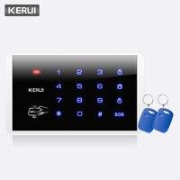 KERUI K16 RFID Touch Wireless Password Burglar Access Control System Arm Disarm Keypad For KERUI PSTN GSM WiFi Alarm Systems keypad wireless keypad rfid keypad access control -