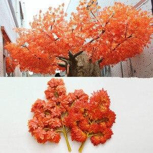 Image 1 - Новое поступление, искусственные шелковые кленовые листья для дома, украшения для свадебной вечеринки, разноцветные осенние яркие искусственные листья для декора листьев