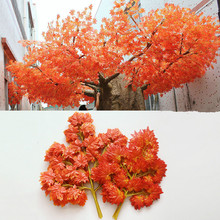 New Arrived Artificial Silk Maple Leaves for Home Wedding Party Decor Craft Multicolor Fall Vivid Fake Flower Leaf Decor Leaves