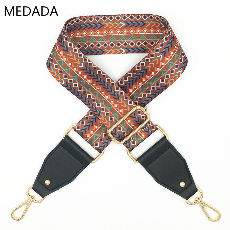MEDADA Womens Bags Wide Strap  Belt Bags Strap Accessories National Style Handbag Straps Decorative