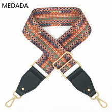 MEDADA Womens Bags Wide Strap  Belt Accessories National Style Handbag Straps Decorative