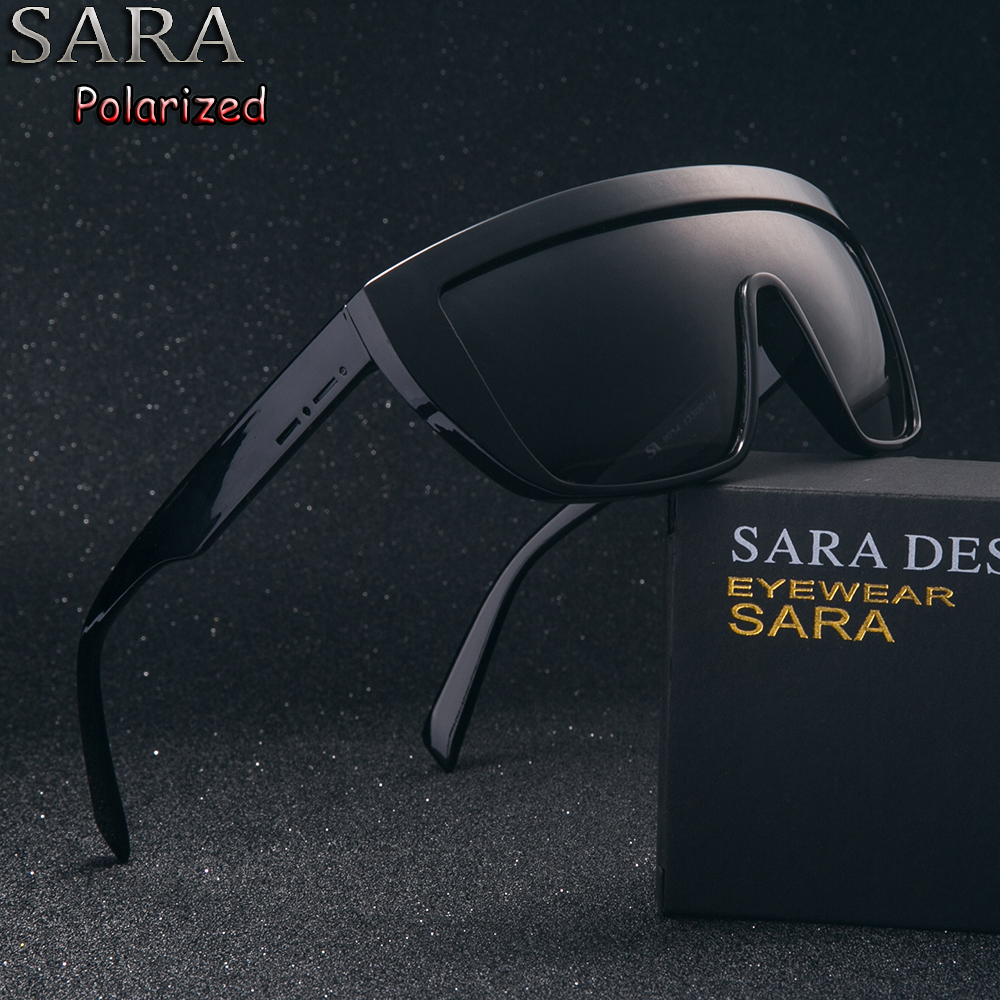 12cb6a155ee Details of SARA Brand Classic Black Sport Polarized Mens Sunglasses Women  Men Driving Sun Glasses for man Clout goggles Eyewear Oculos 9022 click  image.