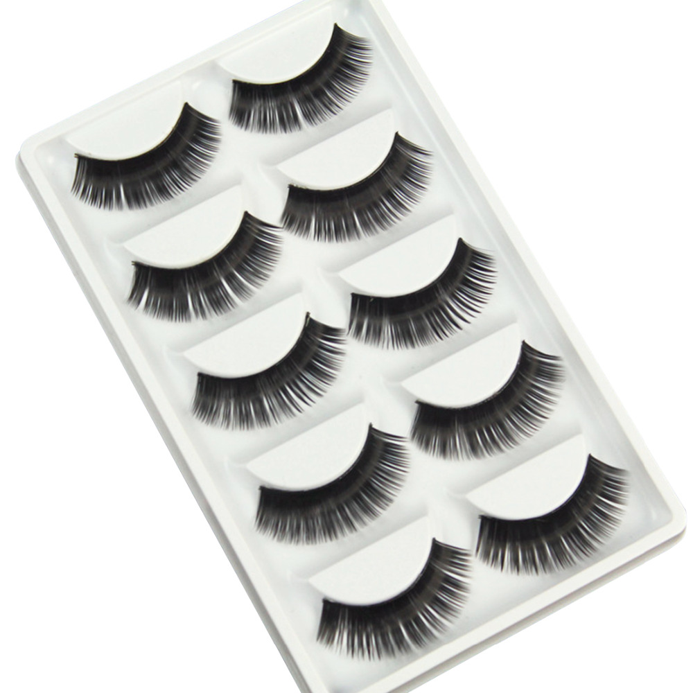 2016 Hot New False eyelashes Professional thick fake lashes nude makeup eyelashes extentions 5pairs per pack with model show
