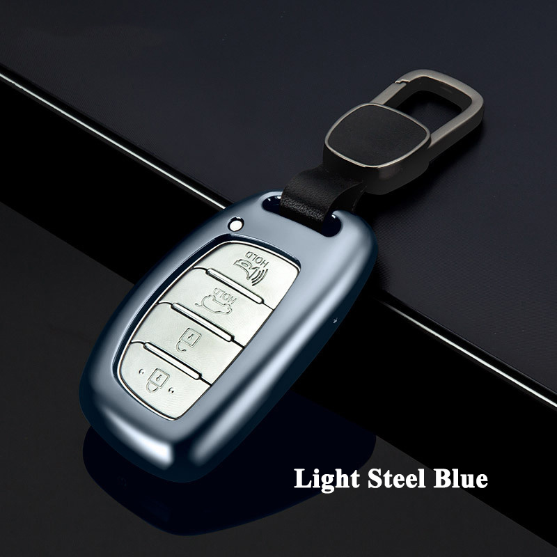 все цены на 1pc FUWAYDA Aluminum Alloy Car Key Case Cover Key Shell Protector Storage Bag for Hyundai Elantra ix25 ix35 Sonata Tucson Accent онлайн