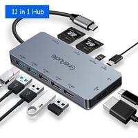 OneAudio USB 3.0 HUB C HUB Multi USB Splitter With HDMI Adater PD Charging Card Reader Type C Hub For Macbook Pro/Samsung Galaxy