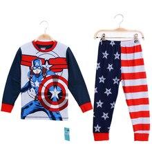 new design OEM kids pajamas captain toddler clothing set american 4th julybaby sleepwear guangdong kids pyjamas outfit pants set
