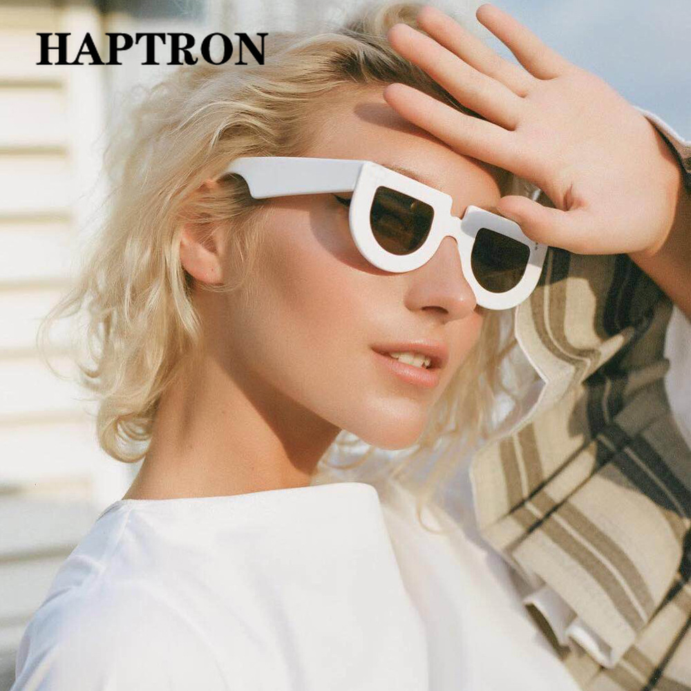 167830e56a Detail Feedback Questions about HAPTROM Luxury Brand thick half round sunglasses  women street style hip hop hippie Sun Glasse vintage shades okulary oculos  ...