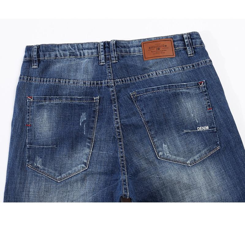 KSTUN Men Fashion Biker Jeans New Design destroyed Man Rip Jean Slim Straight Hip hop Stretch Blue Casual Denim Pants Joggers 38 12