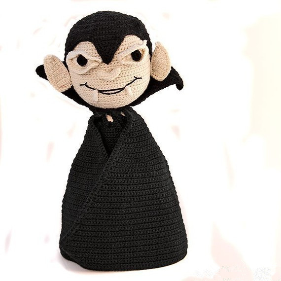 цена на amigurumi vampire crochet toy with rattle