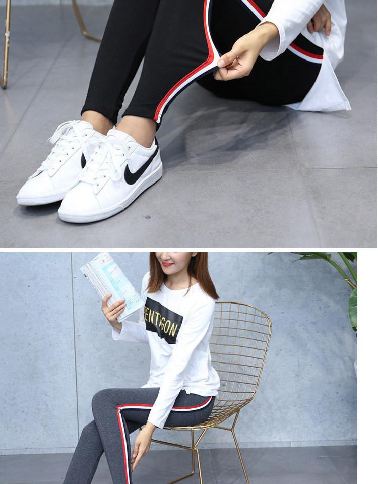 High Quality Cotton Leggings Side stripes Women Casual Legging Pant Plus Size 5XL High Waist Fitness Leggings Plump Female 25