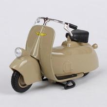 Maisto 1:18 vespa mp5 paperino 1945 khaki motorcykel diescast vintage motorcykel modell leksaker för barn motorcyklar döss 04340