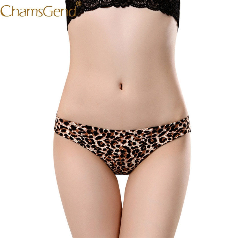 Chamsgend Intimates Women Sexy Hot Underwear Leopard Print Comfy Seamless Briefs Panty 80111