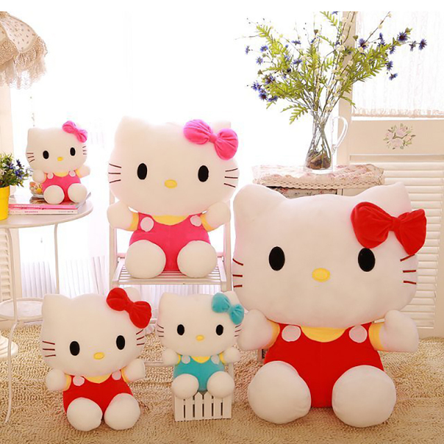 3 styles 20cm cute hello kitty plush soft stuffed doll toys for girl's christmas gifts