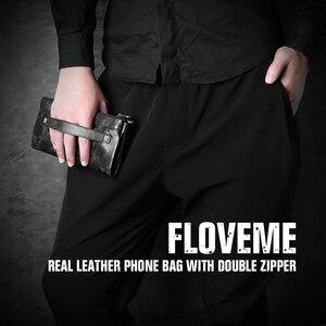 Image 5 - FLOVEME 5.5 بوصة Universale جلد طبيعي سستة محفظة حقيبة لهاتف أي فون X 8 8 زائد 7 7 زائد 6 6 ثانية 5 رجل إمرأة فتحة بطاقة الهاتف حقيبة
