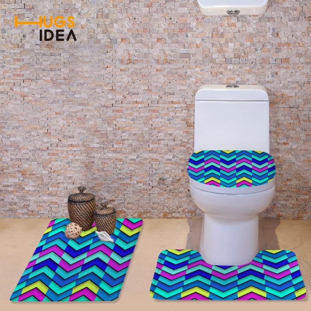 HUGSIDEA 3stk / sett WC Toalett Setetrekk Varmt Toalettdeksel for - Husholdningsvarer