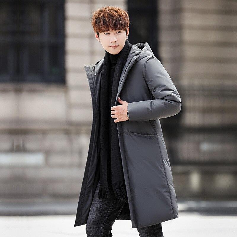 gray Vestes Zl1107 Canard De Duvet Homme Black Streetwear Manteaux Hommes Mode 2018 Long Veste Hiver Et Vêtements Manteau Parka ARc54qS3jL