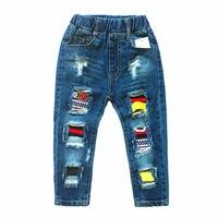 Unisex Jeans Primavera e in Autunno Abito di Moda Per Bambini Solidi Pantaloni di Cotone Pantaloni Jeans Per Bambini per 3-6 Anni vecchio