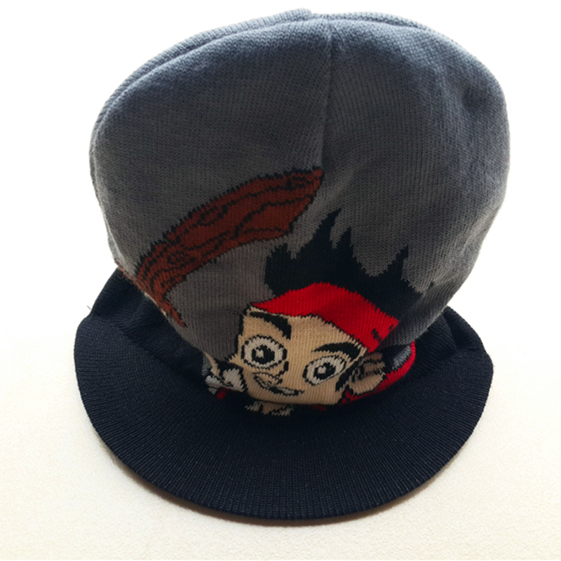 High quality cotton beanie Jake and the Never Land Pirates kids Boy Girls costume Knitted baseball Caps Gorras planas Bucket hat