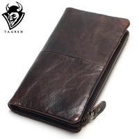 The 2015 New First Layer Of Real Leather Men S Oil Wax Retro High Capacity Multi