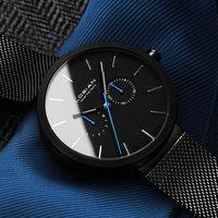 2018 New Fashion Simple Men Watch Waterproof Blue Point Casual Quartz Watches Men with Date Week Wristwatch Zegarek Meskie