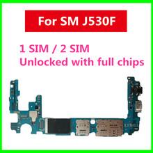 Płyta główna J530F do Samsung Galaxy J5 J530F pojedyncza podwójna karta SIM z pełnymi chipami fabrycznie odblokowana do Galaxy J5 J530F tanie tanio Motherboard For Samsung Galaxy J5 J530F For Samsung Galaxy J5 J530F Logic Board Original Disassemble Unlocked Used In Stock