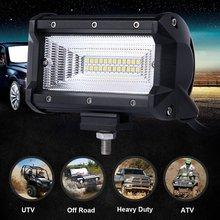 2X5 Inch 168 wát Nhẹ Lũ Lụt LED Xe Máy Kéo Xe Off Road Thanh Ánh Sáng Làm Việc Ánh Sáng Sương Mù Lái Xe Đèn 12 v 24 v