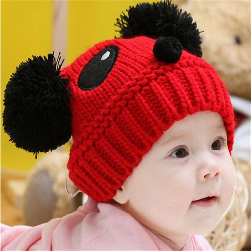 Baby Winter Hat Knit Crochet Baby Beret Girl Cap For Children Warm Cap Cute Panda Warm Kid Beanie Unisex