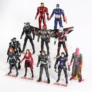 Image 4 - Vendicatori Iron Man Capitan America Ant Man Hulk Spiderman Black Widow Pantera Scarlet Witch Visione Thanos Action Figure Giocattolo