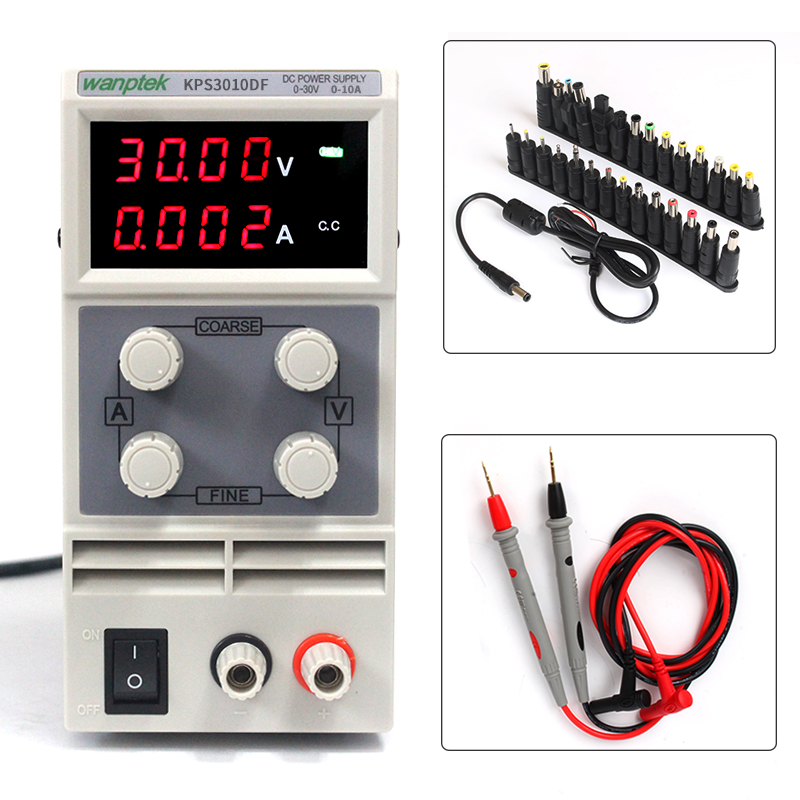 High precision Single Phase KPS3010DF 30V10A DC LED Display adjustable 0.01V/0.001A Digital power supply For scientific research 600w high power high precision adjustable digital dc power supply 30v 20a for scientific research laboratory