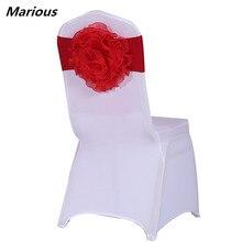 Органза цветок стул створки спандекс Для Свадебные украшения 50 шт./лот