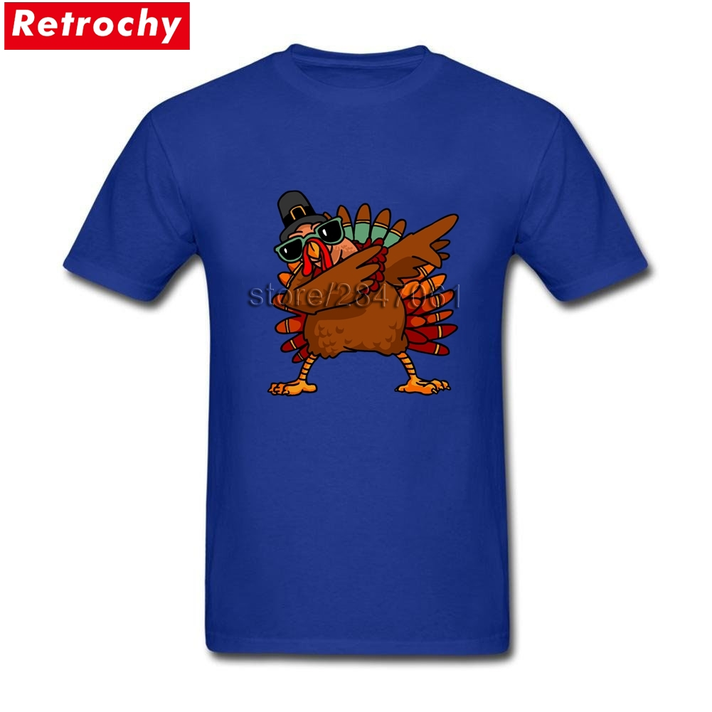 2017 Brand Retro Style Tees Dabbing Turkey for Men Fitted Short Sleeved Leisure Tees Couple Plus Size Official Merchandise