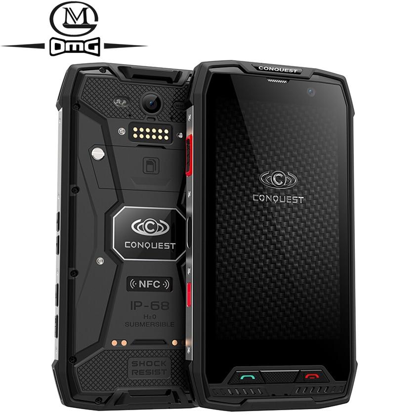 Conquest S11 IP68 Waterproof Shockproof 4G Smartphone 6GB RAM 128GB ROM 7000mAh PTT NFC Fringerprint OTG Rugged Mobile Phone